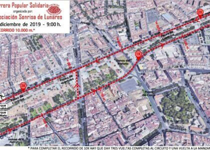 Comunicado: Cambio de recorrido IV Carrera Popular Solidaria