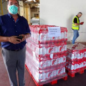 Entrega de 780 litros de leche al Banco de Alimentos de Córdoba